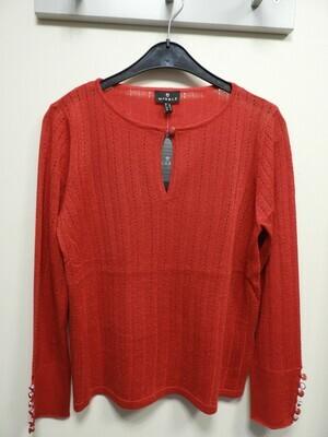 Marble trui: Rood ( fijn gebreid )