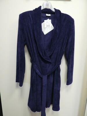 Egatex Dames kamerjas: Blauw met overslag en riem