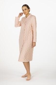 Egatex Dames Kamerjas: Roze met knopen