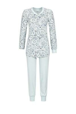 Ringella Dames pyjama: Licht blauw bedrukt