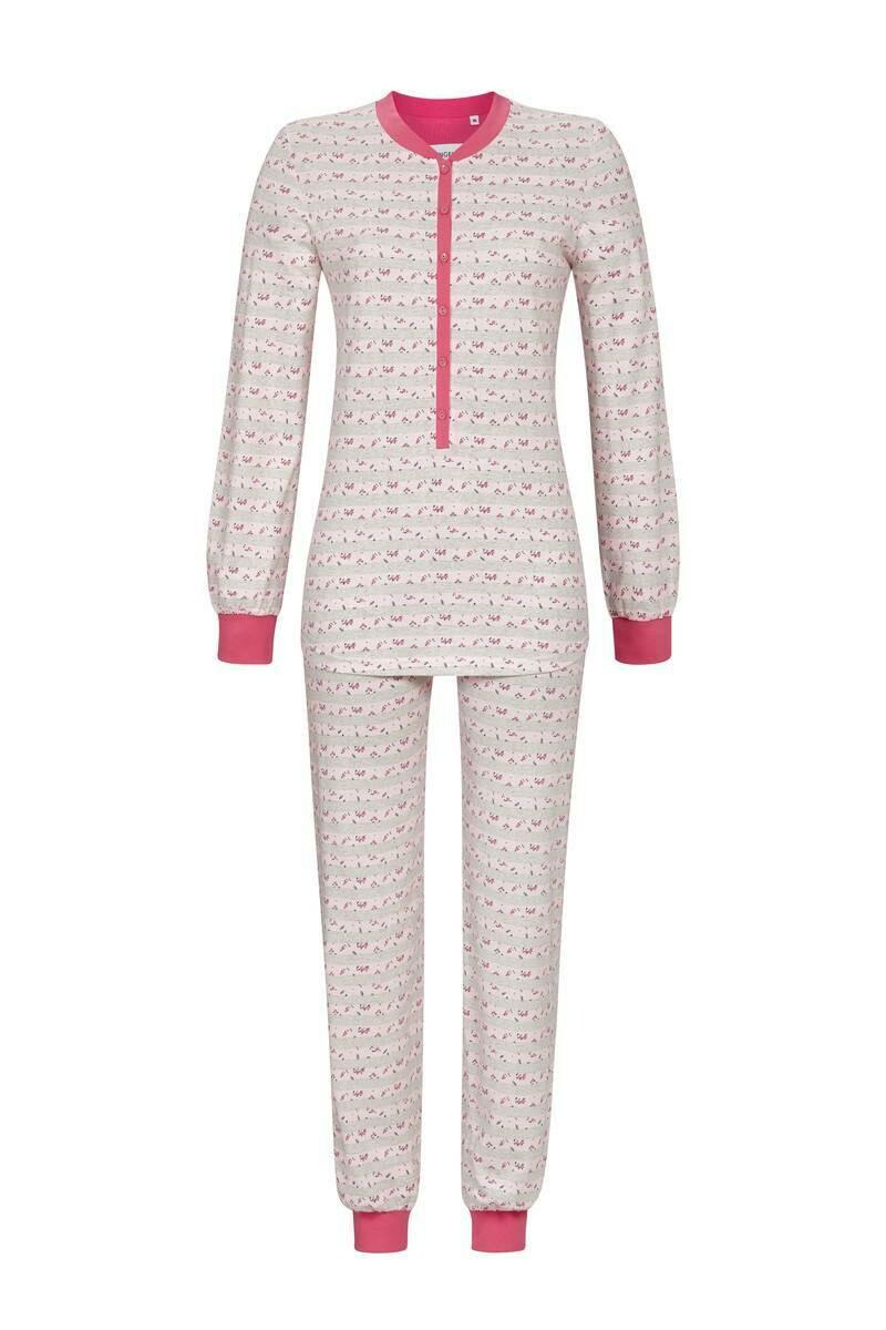 Ringella Dames pyjama: roze / grijze tot maat 50