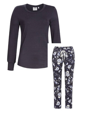 Ringella Dames Pyjama / Homewear: Blauw ( SOLO collectie ) Tencel