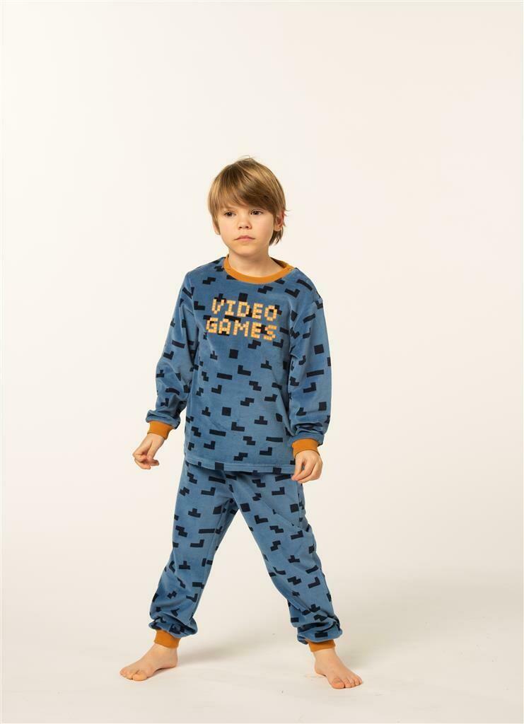 Eskimo Jongens Pyjama: Games Velours 2 - 8jaar