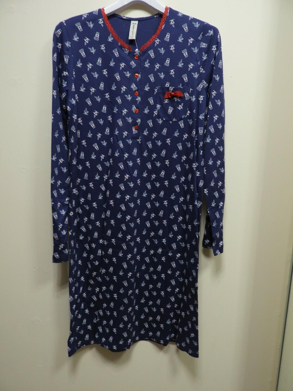 Egatex nachthemd Blauw: 100% Katoen