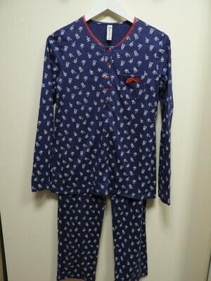 Egatex Pyjama: blauw 100% Katoen