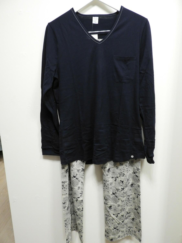 Ammann Dames Pyjama: Blauw 100% Katoen