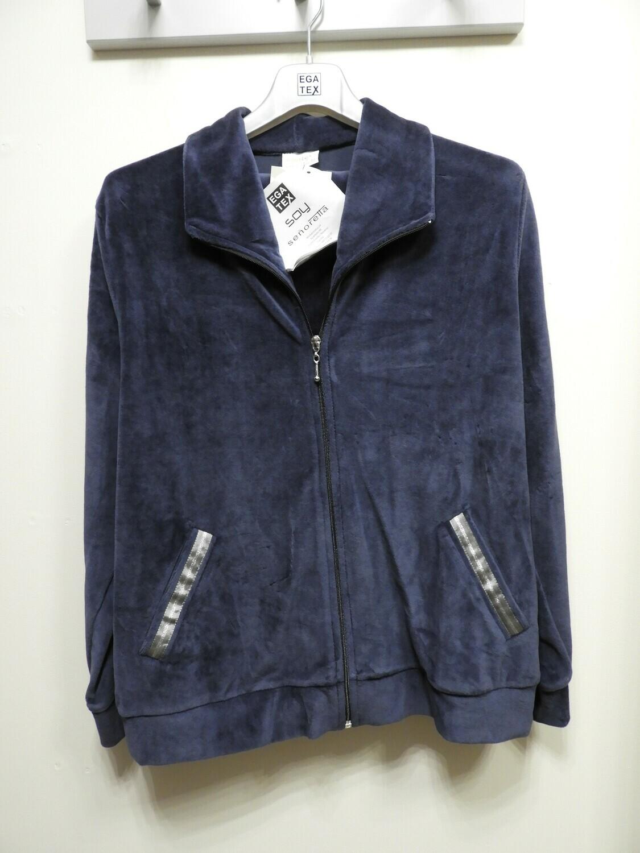 Egatex HomeWear Dames: Blauw ( Vest + broek )
