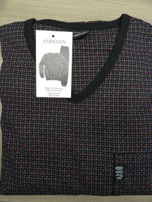 Ammann Heren Pyjama: 100% Katoen ( tot 3XL )