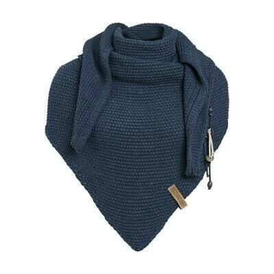 Knitfactory: Sjaal Jeansblauw