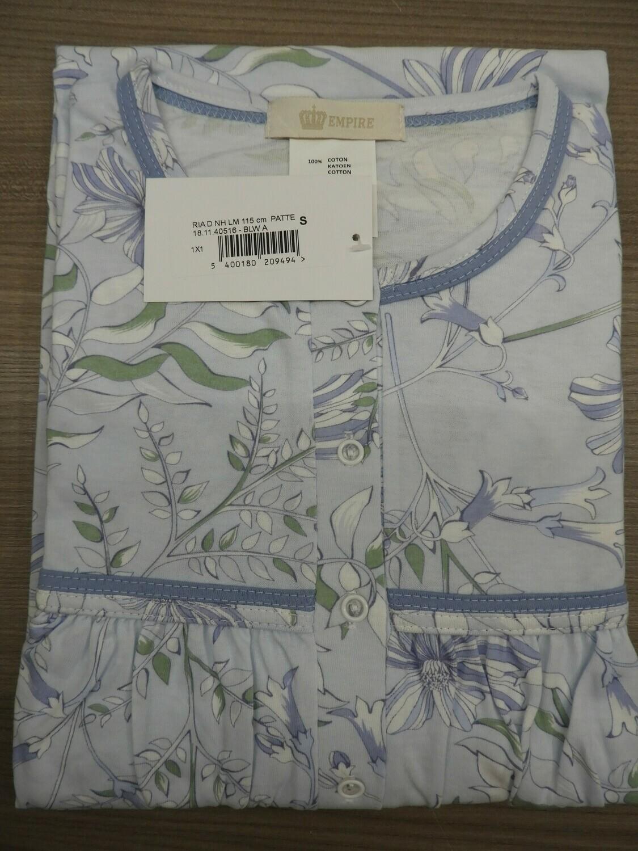 Eskimo dames klassiek nachthemd lange mouw: Ria lengte 115cm / strop ( tot 4XL )