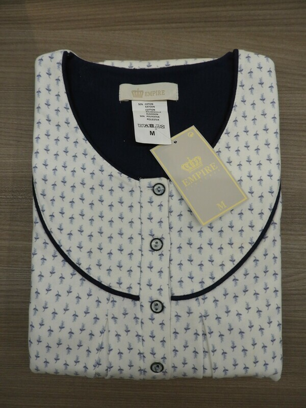 Eskimo Dames nachthemd lange mouwen: RANA 115cm / strop gemoltoneerd