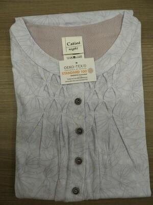 Catini dames nachthemd lange mouwen: 100cm met smok