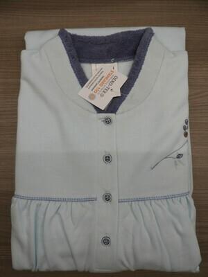 Catini dames nachthemd met lange mouwen: gemoltoneerd, gewatteerde kol, 115cm