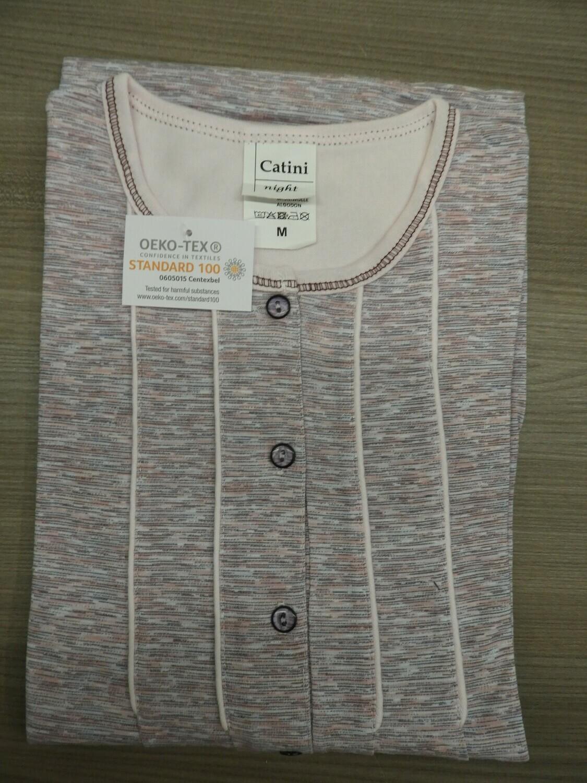 Catini dames nachthemd met lange mouwen: 100cm