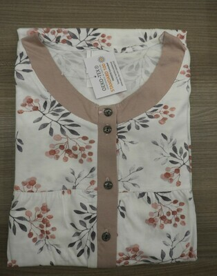 Catini Dames klassiek nachthemd: lange mouwen ( 115cm ) tot 4XL
