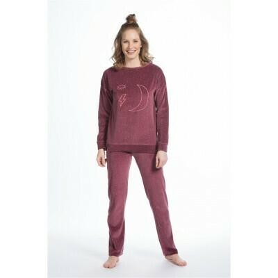 Eskimo Pyjama: Moon (Velours) tot 2XL - Bordeaux