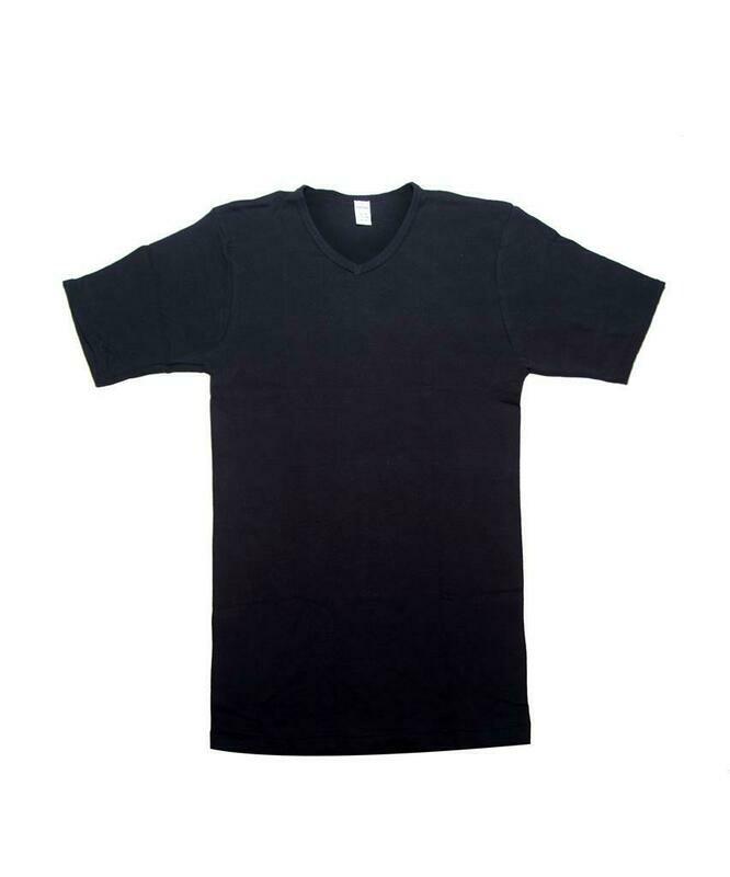 Eskimo Heren onderhemd: Fil top Zwart, V hals