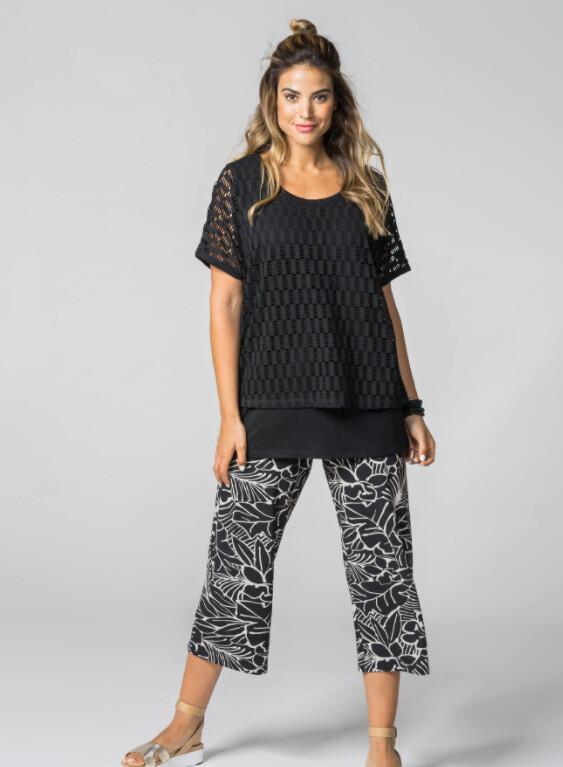 See You 7/8 broek: Losse tricot met elastiek ( tot maat 52 )