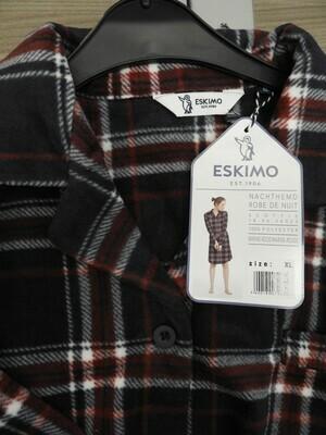 Eskimo Nachthemd Scottie (polar fleece) met knopen vooraan