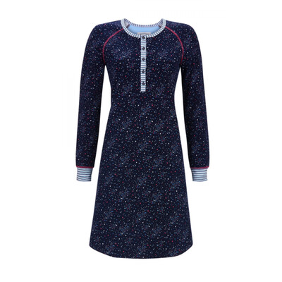 Ringella nachthemd: Blauw ( 100% Katoen )