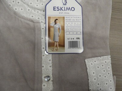 Eskimo Dames nachthemd: Saraly ( velours )
