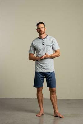 Eskimo Heren pyjama: Emmeth, t-shirt / short