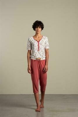 Eskimo Dames Pyjama: Hyacinth 3/4 broek + korte mouw