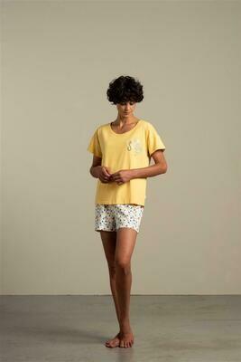 Eskimo Dames pyjama; Sunday shirt met short