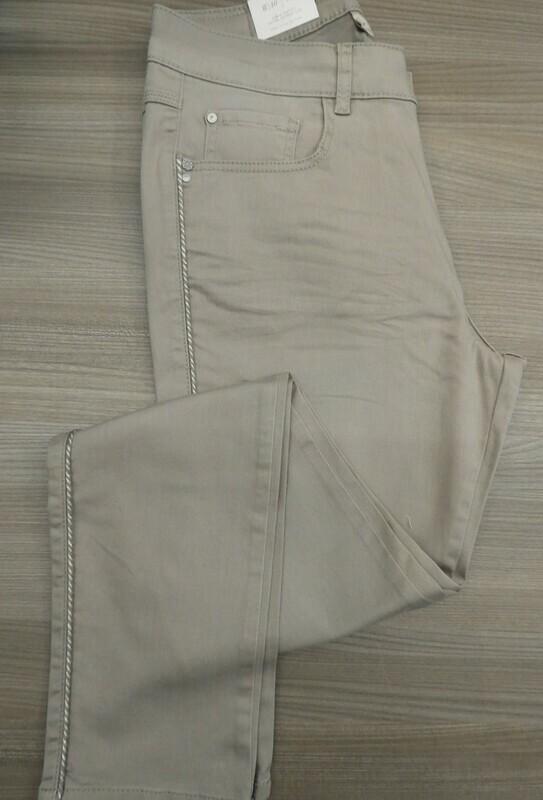 Para Mi Dames broek: Nikita Color Denim Silver Olive ( Extra Skinny Leg )