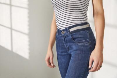 Para Mi Dames Broek: Celine ( Elastiek ) Reform Denim Old Bleu ( skinny Leg )
