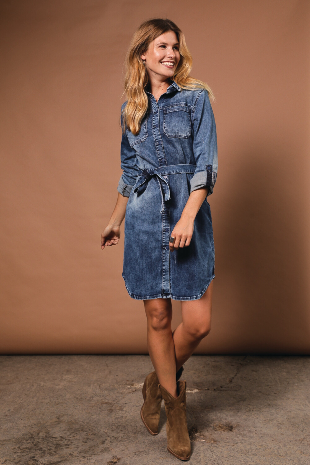 Para Mi Jeans kleedje: Sammy Dress Cloudly Blue