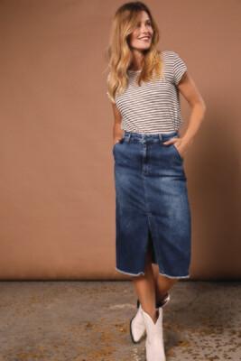 Para Mi Jeans Rok: July skirt P Form Denim Cloudly Bleu