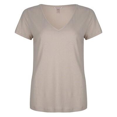 Esqualo shirt: Beige met kleine glitter