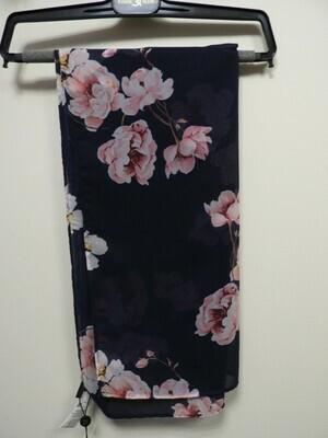 Eugen Klein: Sjaal Blauw met Roze bloemen