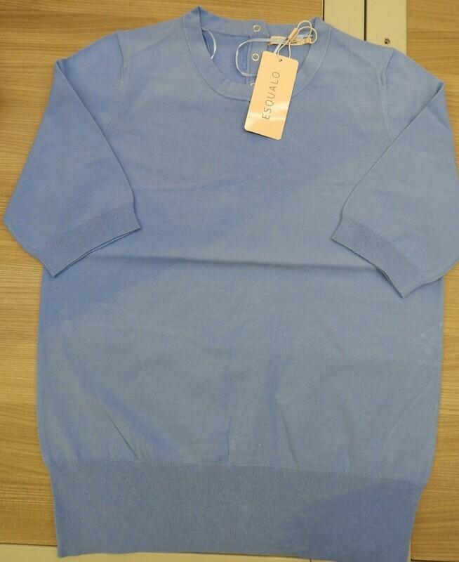Esqualo Gebreid T-shirt: blauw