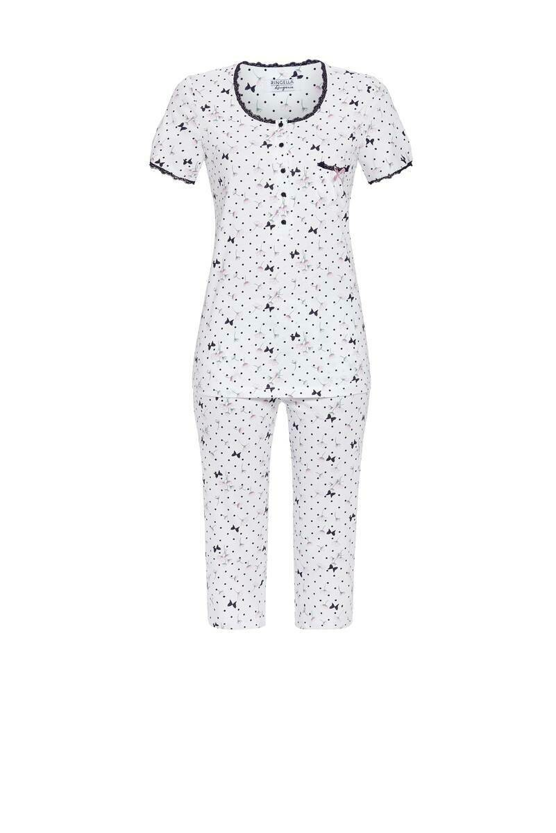 Ringella Dames Pyjama: Korte mouw en 3/4 broek ( Tencel )