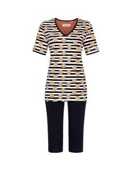 Ringella Dames pyjama: T-shirt met 3/4 broek