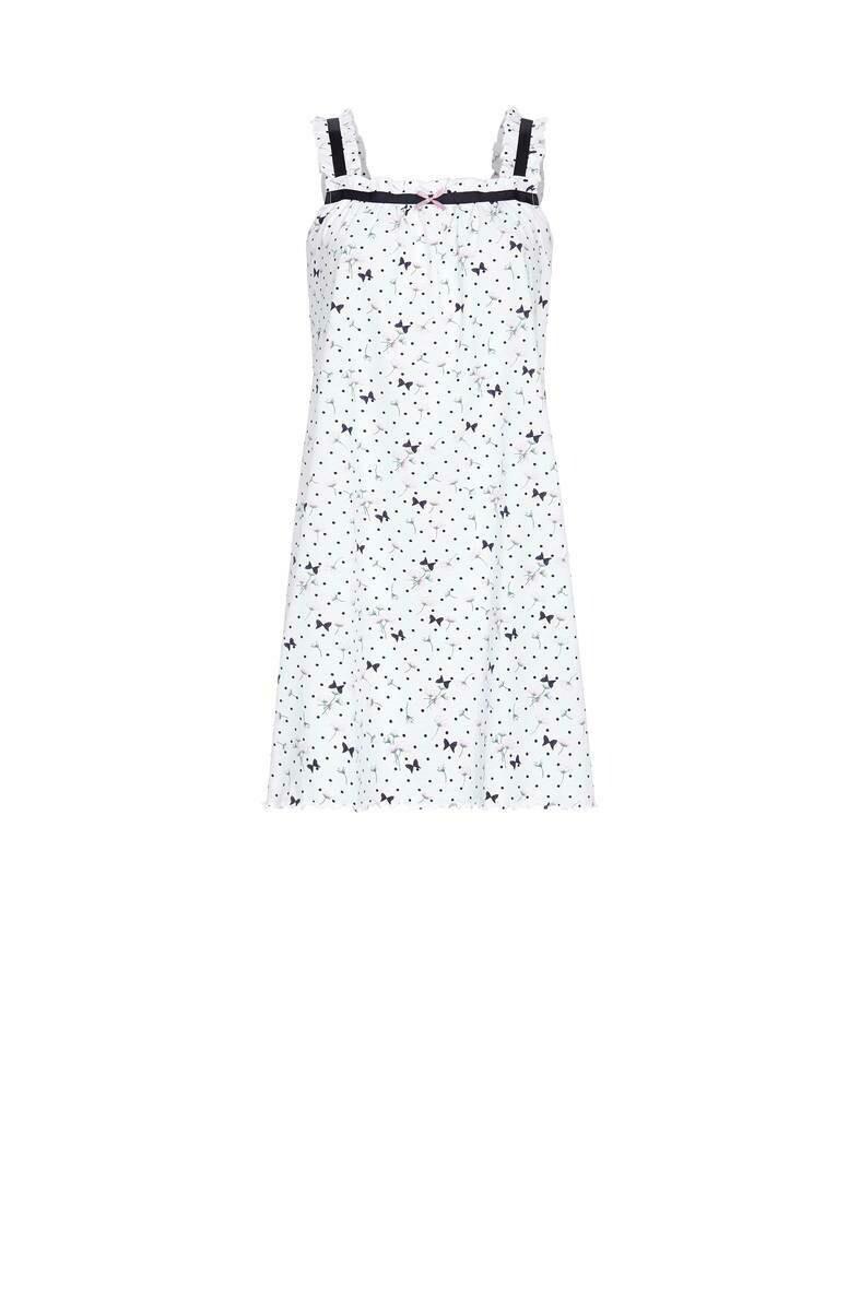 Ringella nachthemd zonder mouwen: wit bedrukt