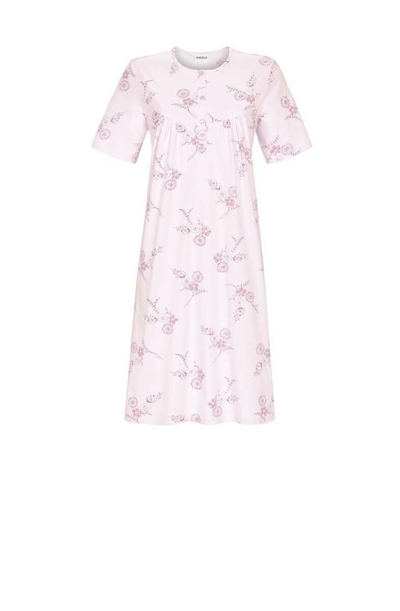 Ringella Klassiek nachthemd met strop: korte mouw Lengte 100cm tot maat 54