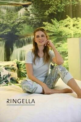 Ringella Pyjama: T-shirt met 3/4 broek bedrukt