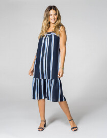 See You dames kleed: Blauw gestreept ( tot 50 )