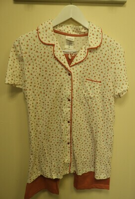 Catini Doorknoop pyjama: platte kraag