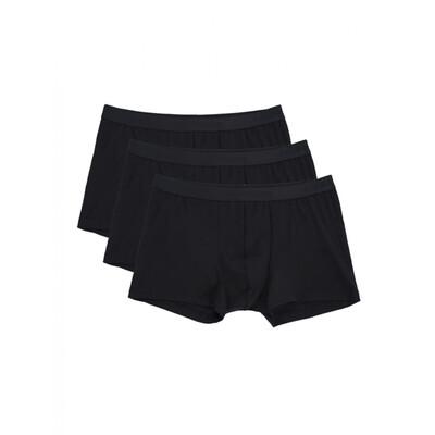 Calida Boxershort Heren: Natural Benefit 3 pack ( Zwart )