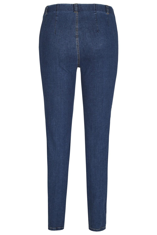 KJ Brand Jeansbroek: Elastiek in de lenden ( Susie model )