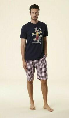 Happy People heren pyjama: Carree short