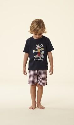 Happy People Jongens pyjama: Carree Short