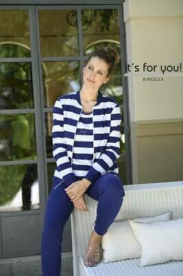 Ringella Home wear: Blauw gestreept