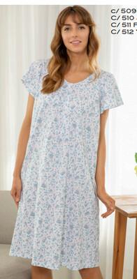 Mitjans nachthemd: Korte mouw ( tot maat 50 )