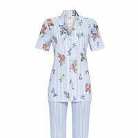 Ringella Doorknoop pyjama Dames: korte mouw - 3 / 4 broek