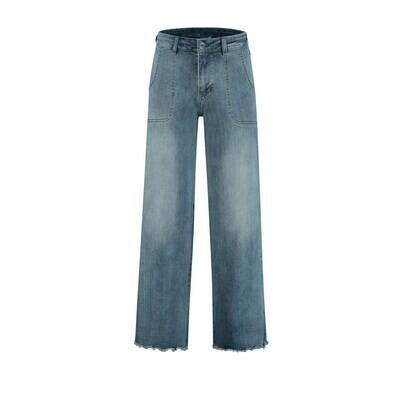 Para Mi Jeans broek 7/8: Lise Light shadow L28 Wide leg